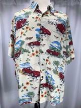 Reyn Spooner Corvette 50th Anniversary Tropical Aloha Car Shirt Large - $29.20