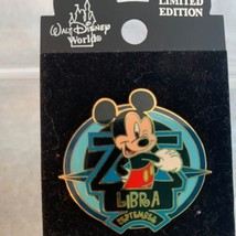 Walt Disney World Trading Pin Zodiac Libra Mickey Mouse 2002 LE September - $13.99