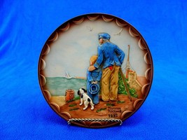 """Rockwell 1982 Collector's Club Plate """"Looking Out To Sea"""", 3D Bas Relief... - $12.69"""