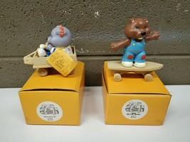 Vintage 1984 American Greetings Corp Get Along Gang Ceramic Figurines Bi... - $32.68