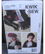Kwik Sew 2326 Gloves Jabot Shawl Cuffs Pattern* - $28.00