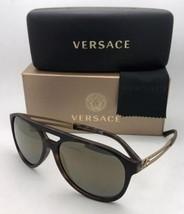 Nuevo Versace Gafas de Sol Ve 4312 5181 / 4T 60-15 Carey & Dorado con / ... - $250.71