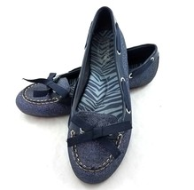 Sperry Top Sider Blue Glitter Sparkly Flats Slip On Shoes Loafers Womens 7 - $29.53