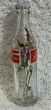 Russia Coke Coca-Cola Mini Miniature dried Purple flowers crystal glass bottle image 3
