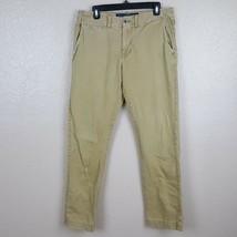 American Eagle Men's Slim Pants Size 32/34 Beige TX20 - $17.81