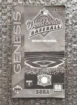 World Series Baseball **ORIGINAL MANUAL ONLY** Sega Genesis - MODERATE WEAR - $4.27