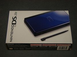 Nintendo DS Lite Cobalt/Black [GAME SYSTEM BOX ONLY] - $19.00
