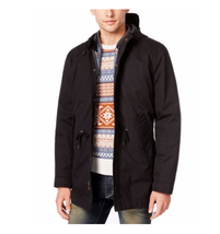$140 American Rag Men's Three-in-One Hooded Parka, Black, Size M. - $69.29