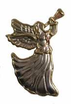 Vintage Metal Large Angel Pin Brooch Angels - $14.84