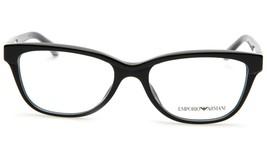 New Emporio Armani Ea 3015F 5001 Black Eyeglasses Frame 53-17-140 B37mm - $44.09