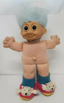 "Russ Troll 12"" Vtg Nude Polar Bear Animal Slippers Blue Hair Eyes Stuffe... - $34.64"