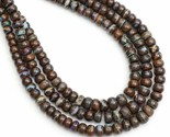 130 CT Boulder Opal Bead Necklace Round Beads Necklace Smooth Beads - $237.60