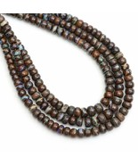 130 CT Boulder Opal Bead Necklace Round Beads Necklace Smooth Beads - $297.00
