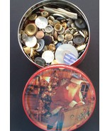3.5 Lbs Mixed Lot of Buttons, Antique, Vintage Metal, Pearl, Shell, Plastic - $24.90