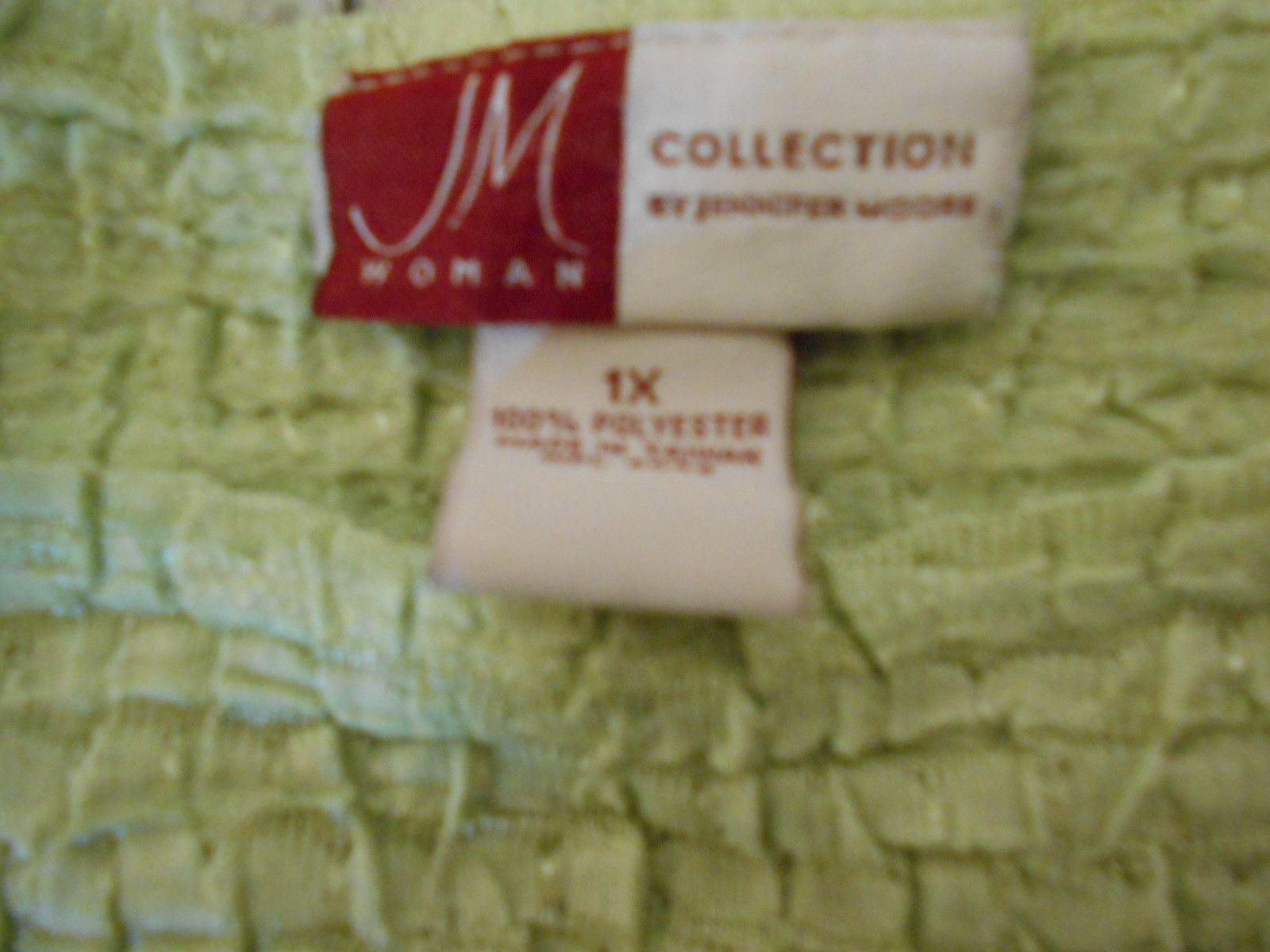 JM Collection Pale Green Size 1X Polyester Boat Neck Short Sleeve  Top Blouse