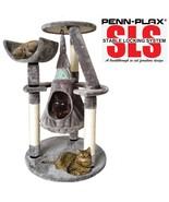 Penn Plax Cat Tree 33'' SLS Climate Pocket Crescent Hang Around Condo Ac... - £64.60 GBP