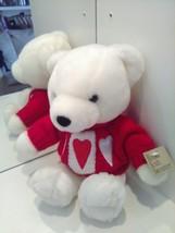 Dan Dee Collectors Choice Teddy Bear Hand Knit sweater w Hearts Stuffed 10 Inch  - $19.39