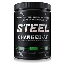 Steel Supplements Charged-AF Pre Workout Powder Energy Drink with Vitami... - $49.45