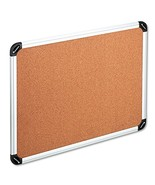 UNIVERSAL Cork Board with Aluminum Frame 48 x 36 Natural Silver Frame 43714 - $48.18
