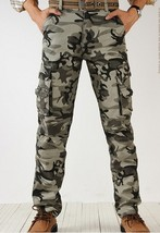 Trend of men's overalls 100% cotton pants high quality military camouflage - $37.74
