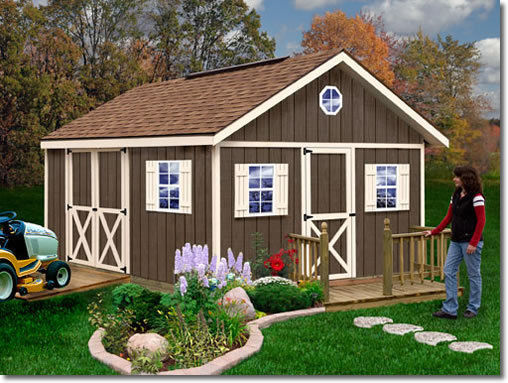 Best Barns Fairview 12x16 Wood Storage Shed Kit - ALL Pre-Cut