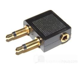 Mini flugzeug-adapter 2 3,5mm Mono Jack An Stereo Socket - $3.54