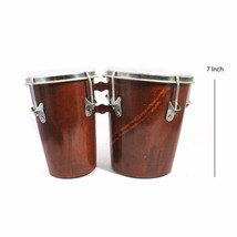 Handmade Decorated Kids Playing & Learning Professional Wooden Bongo Drum - $55.00