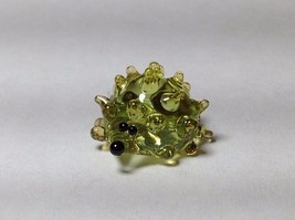 Miniature Glass green hedgehog Handmade Blown Glass Made USA - $39.99