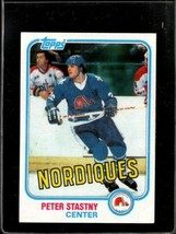 1981 Topps #39 Peter Stastny Exmt (Wax) Nicely Centered *A27365 50860 - $3.96