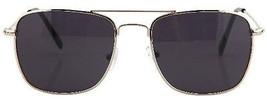 SteamPunk Cosplay Top Gun Square Aviator Style Silver / Smoke EyeGlasses... - $9.74