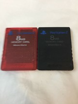 Lot Of 2 PS2 Memory Cards - Sony Playstation 2 Official OEM 8MB SCPH-10020 - $11.98 CAD