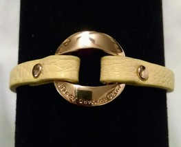 New $78 Marc By Marc Jacobs Yellow Gold Leather Bracelet - $31.99