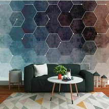 3D Wall Paper Modern Fresh Abstract Geometric Figures Cloth Classic Home... - $15.97