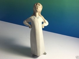 VINTAGE LLADRO FIGURINE GIRL HANDS HIPS AKIMBO HAIR BRAID 4872 FULGENCIO... - $64.35
