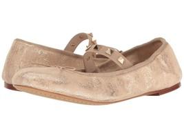 Vince Camuto Prilla Metallic Studded Ballet Flats, Sizes 6-9 Metal Beige - $79.95