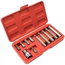 Bastex 11 Piece Triple Square Socket Spline Bit 12 Point Set, CrV Steel - $53.63 CAD