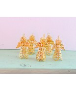 Miniatures, Angel Decorations, Gold Stand Up Angel Ornaments, 5 Angel Set - $10.00