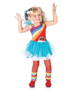 3pc Children's Rainbow Doll Rainbow Brite Glitter Dress Halloween Costum... - $35.52