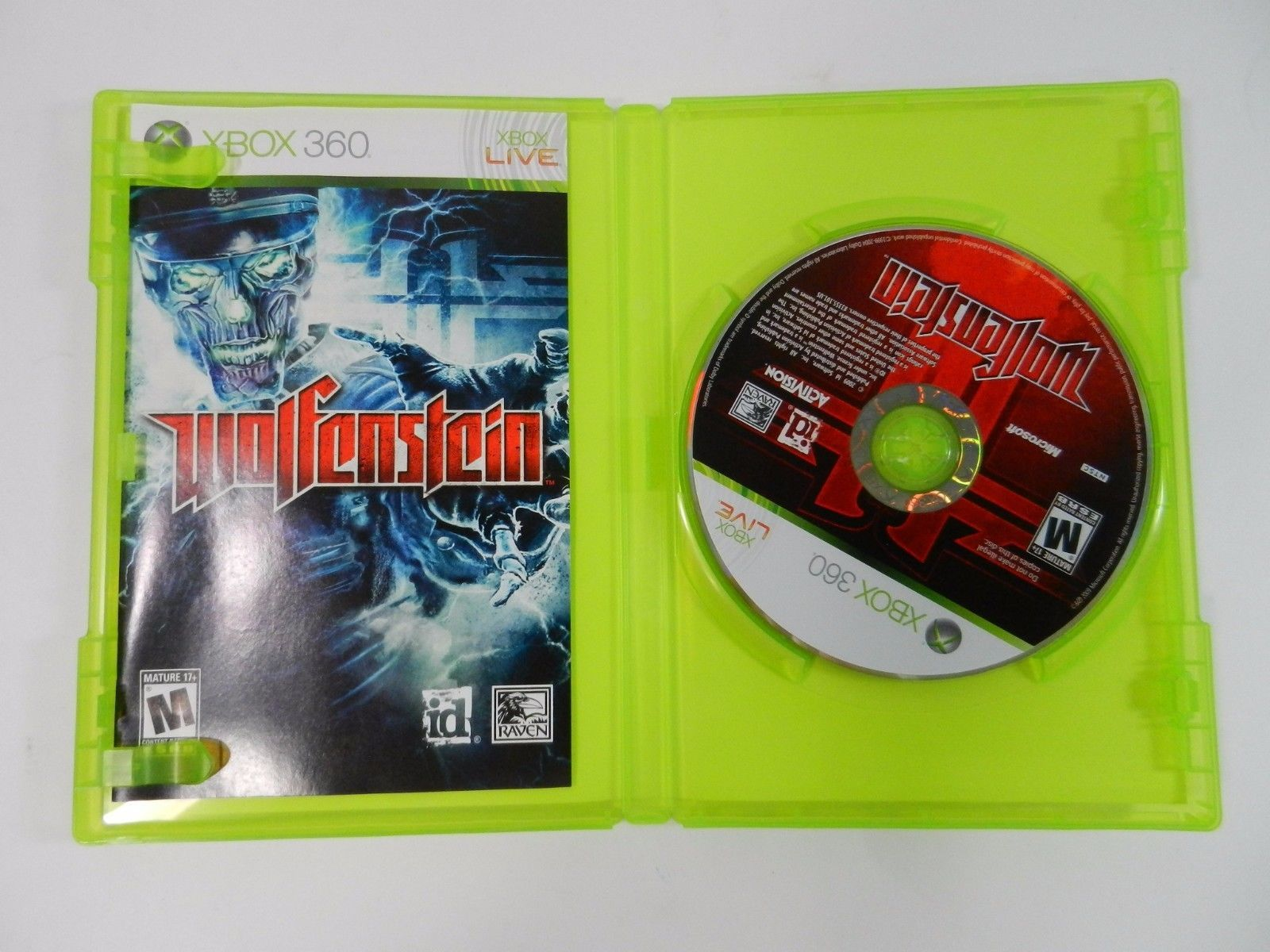 Primary image for Wolfenstein (Microsoft Xbox 360, 2009) Complete