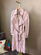 100% AUTH NEW BURBERRY PINK LACE LADIES TRENCH COAT JACKET image 2