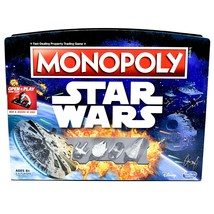 Hasbro B8613 Gaming Monopoly Star Wars Open & Play Board Game 100% Complete image 1