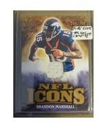 2009 Upper Deck Icons NFL Icons Jerseys #ICBM Brandon Marshall : Denver ... - $5.65