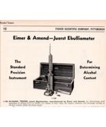 Juerst Ebulliometer Alcohol Content Tester 1942 Catalog AD Precision Ins... - $15.99