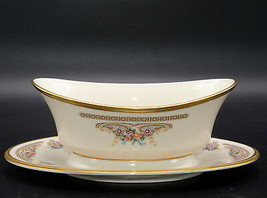 Lenox Versailles * GRAVY BOAT WITH ATTACHED UNDERPLATE * Gently Used Con... - $44.99