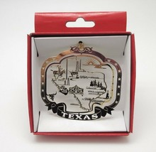 Texas State Ornament Landmarks Brass Christmas Travel Souvenir - $14.95