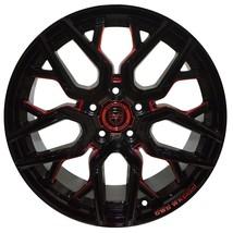 4 Gwg Nigma 18 Inch Black Red Mill Rims 18x9 Fits Ford Windstar 2000 - 2003 - $649.99