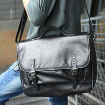 Sale, Retro Men Messenger Bag, Full Grain Leather Briefcase, Tote, Laptop Bag image 5