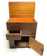 Antique Empire Mahogany Dry Sink Commode Wash Basin Bathroom Cabinet w/ ... - $296.95