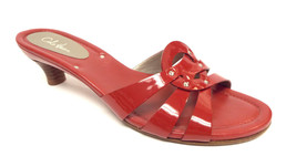 COLE HAAN Red Patent Size 8.5 Slide Sandals Shoes 8 1/2 - $49.00
