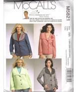 McCalls M5821 Sizes 18-20-22-24 Womens Plus Loose Fit Coat Jacket Fleece... - $3.47